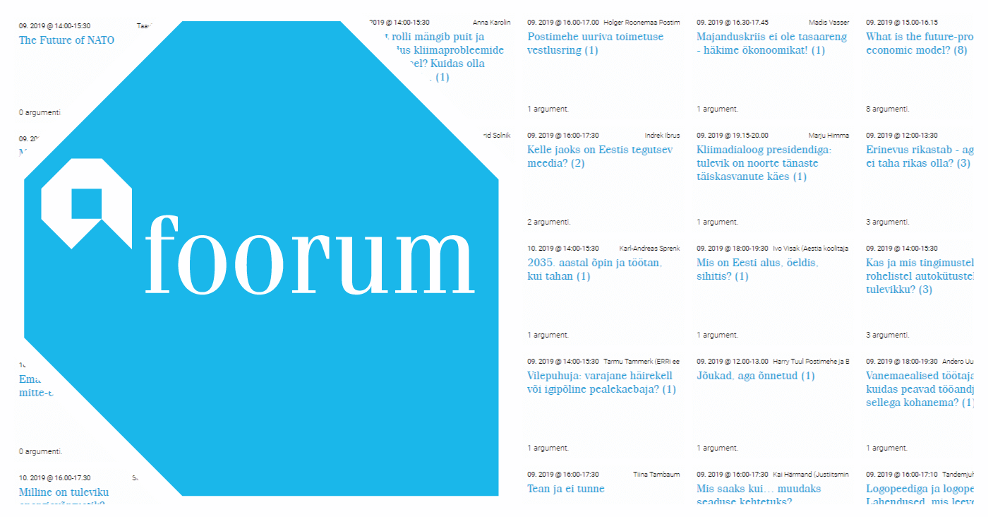 A collage consisting of the AFoorum logo and a screenshot of the argumentation widget.